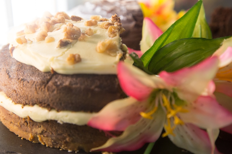 Or perhaps chocolate walnut cake is more to your liking?
