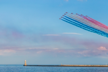 Red Arrows and Roker Lighthouse