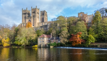 Durham cathedral and fulling mill